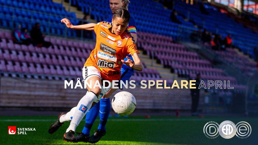 Jónsdóttir och Björk - Månadens Spelare i OBOS Damallsvenskan och Elitettan