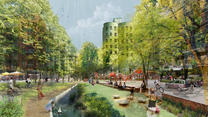 Bild ur Skyfallsplan för Malmö