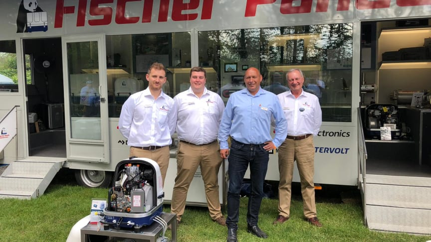 The Fischer Panda UK team at Crick Boat Show