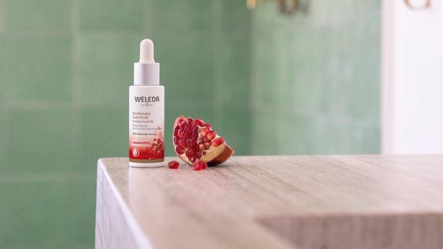 Power of a Drop – Weleda lanserar nyheten Pomegranate Firming Facial Oil