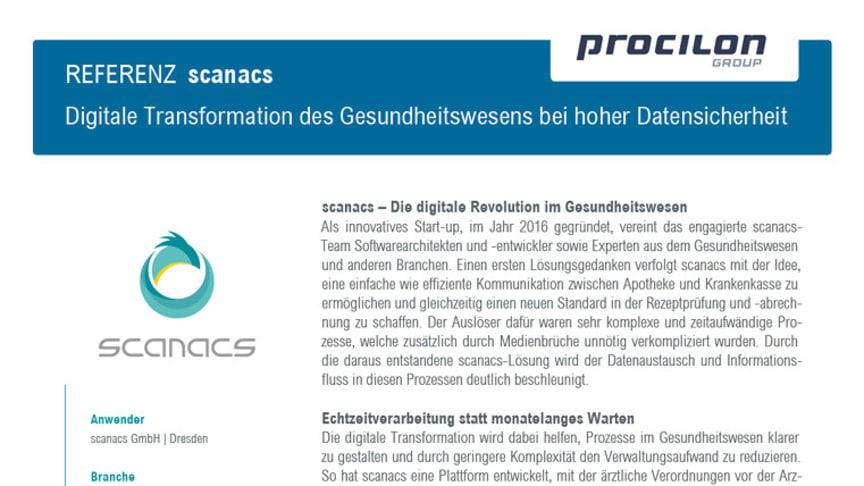procilon Referenzblatt | scanacs - Integritätsschutz medizinischer Belege und Aufbewahrung signierter Daten