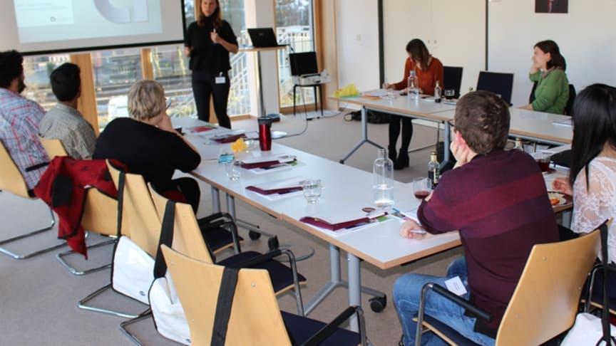 Jessica Hanneken diskutierte mit Studierenden bei der Gesundes Kinzigtal GmbH über Perspektiven für junge Heilberufler. Foto: privat
