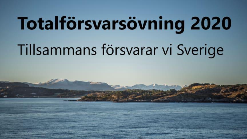Inbjudan till pressträff: Totalförsvarsövning 2020  – Nu övar vi i södra Sverige