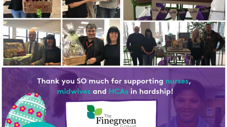 Finegreen Easter Raffle raises £110 for Cavell Nurses Trust!