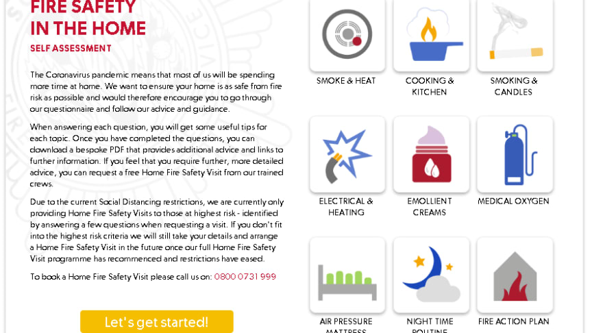 The easy to use fire safety quiz helps you stay safe at home and provides potentially life-savings tips