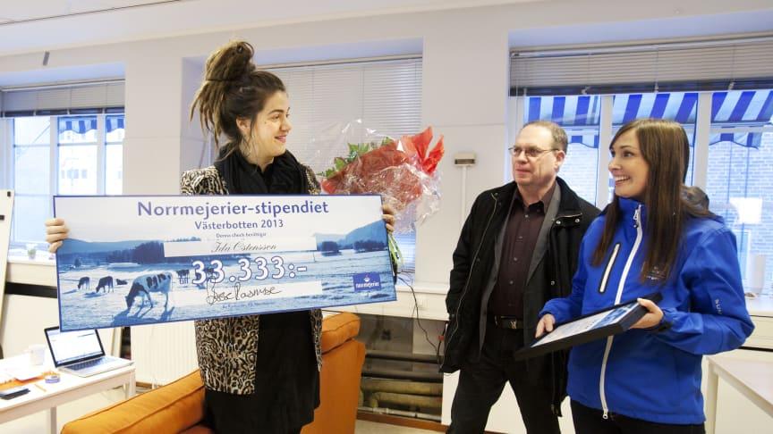 Ida Östensson vann Norrmejerier-stipendiet 2013 i Västerbotten