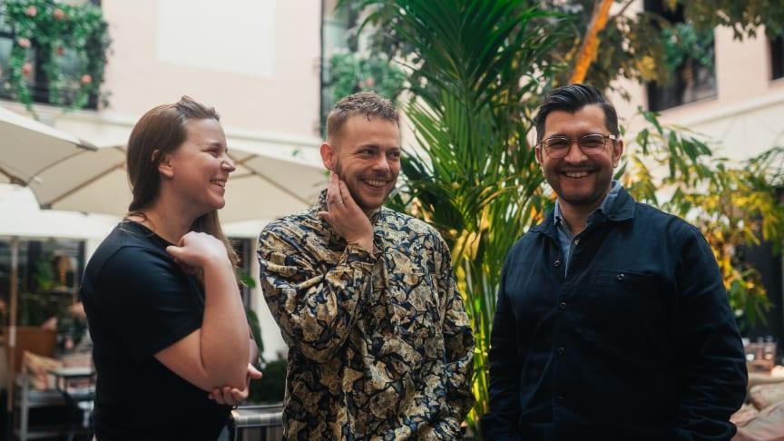 Frida Nilsson, nye kökschefen Mikkel Holmskov och General Manager Alpar Simon.