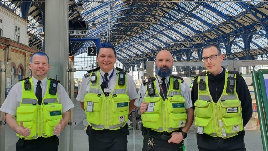 Southern rail enforcement officers sport blue hair for NHS Charities Together - IMAGES AVAILABLE TO DOWNLOAD BELOW