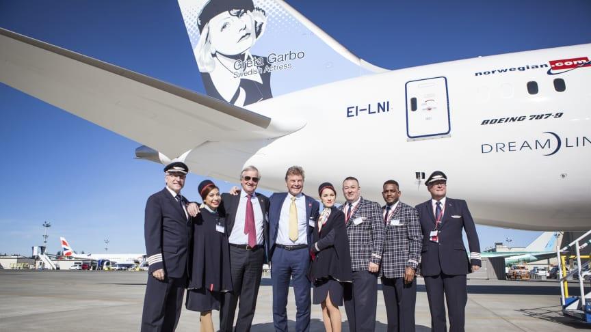 Norwegians första 787-9 Dreamliner har landat