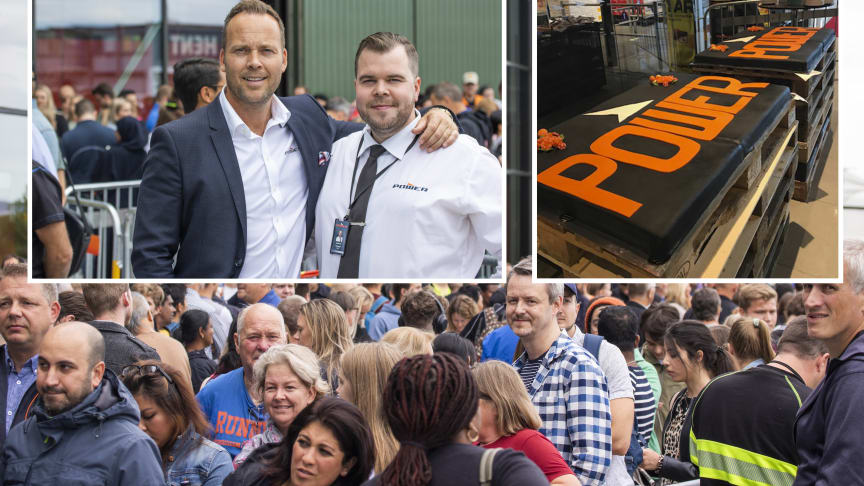 POWER Norge-sjef Anders Nilsen sammen med varehussjef på POWER Lade, Martin Risvik