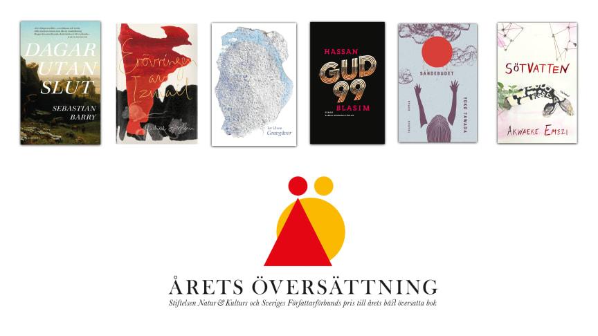 Sex böcker i slutomgången till Årets översättning