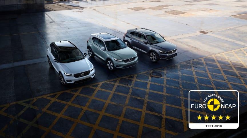 Volvo XC40 får 5 stjerne i Euro NCAP
