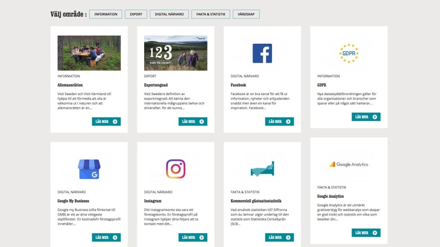 Besöksnäringens verktygslåda på visitvarmland.org