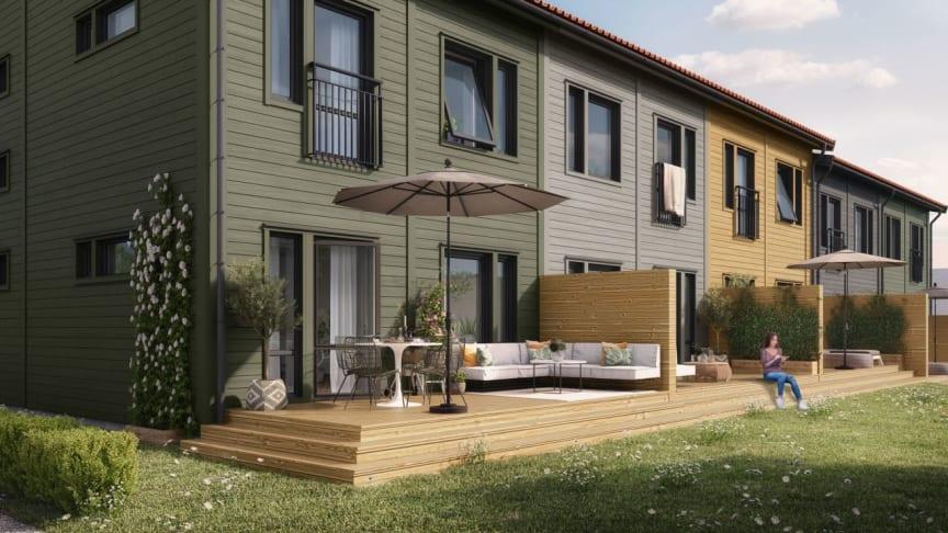 OBOS bygger rad- och parhus med stora tomter i Knivsta
