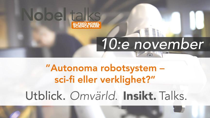 Välkommen till Nobel talks tisdag 10 november kl 12-13.