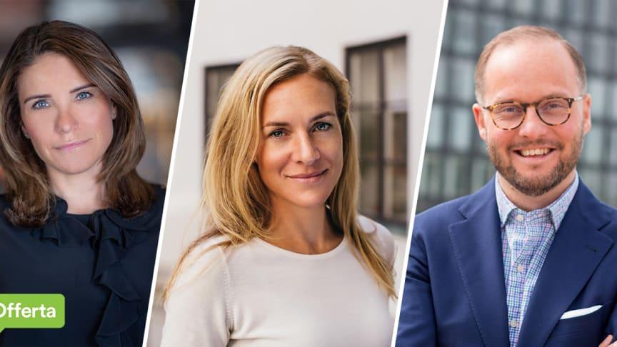 Anna Bergius, Maria Åhr, Jens Nilsson