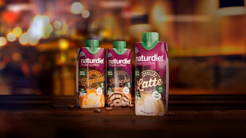 Kahvi ja proteiini samassa paketissa! Naturdiet Vanilla Latte proteiinikahvi on täyteläinen vaniljanmakuinen kahvijuoma.