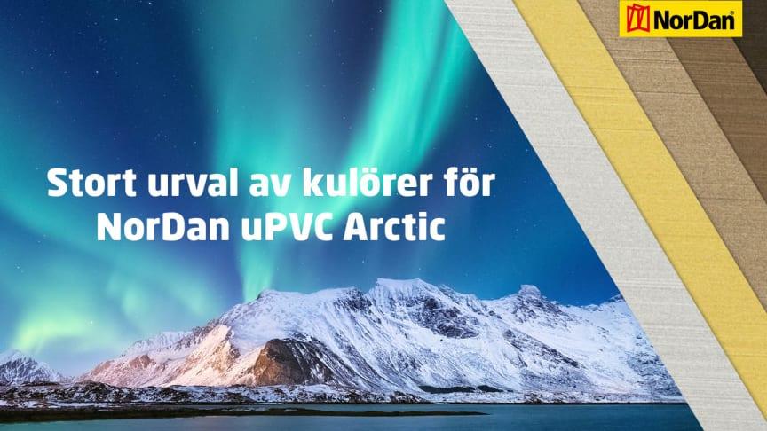 Nya standardkulörer för NorDans aluminiumbeklädda uPVC Arctic serie