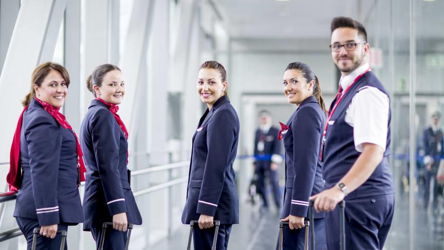 Besättning från Norwegians 737-operation. Foto: Bo Mathiesen