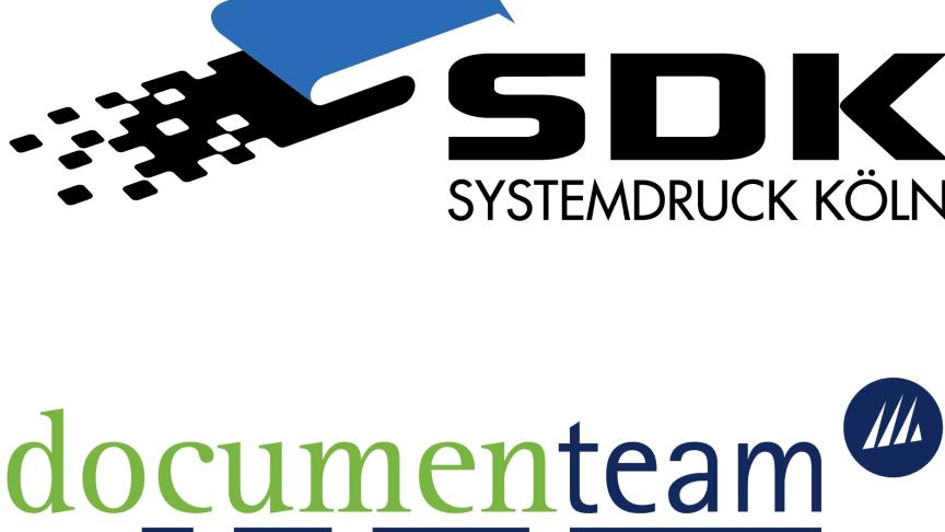 SDK Systemdruck Köln und documenteam kooperieren