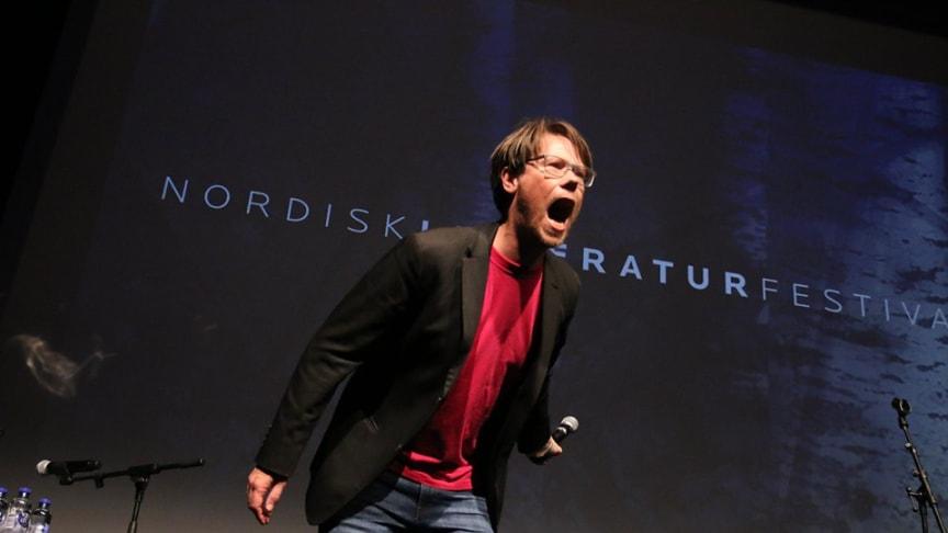 Lørdag den 18. september fyrer NORD op under den levende litteratur. Foto: Oskar Hanska