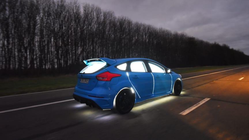 Ford Focus RS med artificiell intelligens-teknologi.