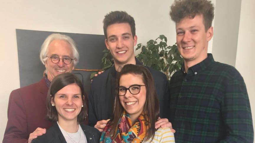 Stark als Team: Prof. Hans R. Kaufmann, Carolin Kaiser, Kalina Dimitrova, Philip Stockreiser, Mark Reiserer.