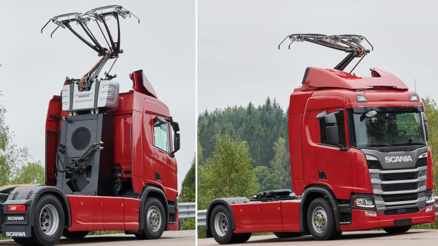 Teknologien bag elektrificerede veje er del af Scanias bæredygtige transportløsninger, som nu også testes på tyske veje.