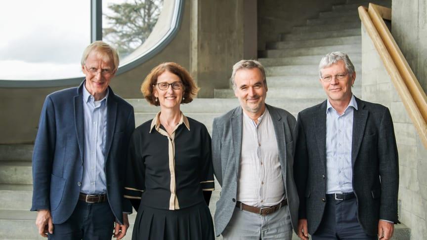Leitung der Pädagogischen Sektion am Goetheanum: Claus-Peter Röh (bis Mitte 2021), Constanza Kaliks (ab 2022), Philipp Reubke (seit Oktober 2020) und Florian Osswald (bis Anfang 2022) (Foto: Xue Li)