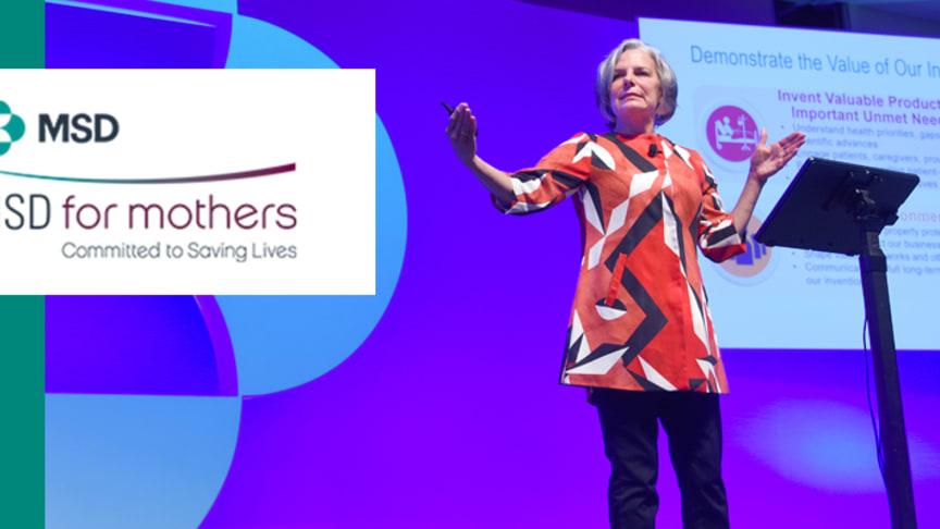 Dr. Julie Gerberding, vice koncernchef för MSD besöker Sverige och deltar i Läkarmissionens Mammagalan på Kanal 5.