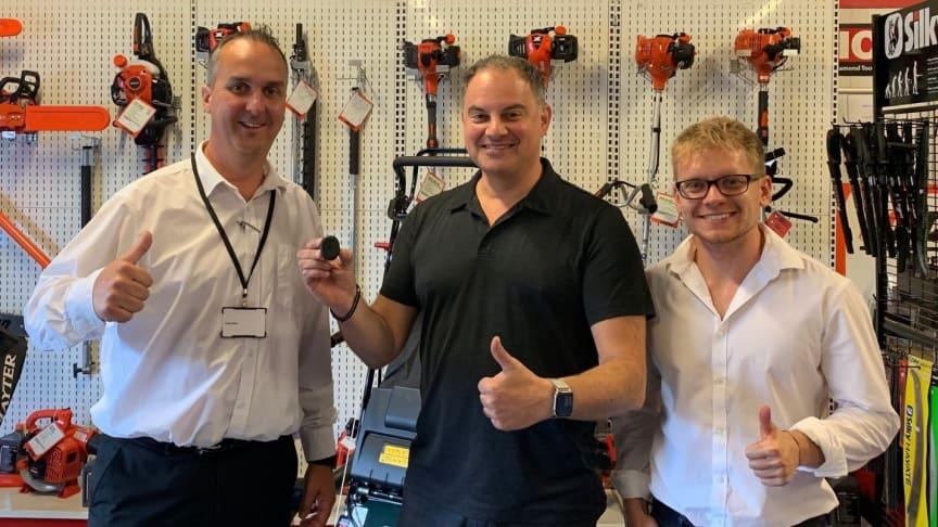 Left to Right: Craig Allan, Strategic Partnership ABAX: Darren Aaron, MD, Contact Plant: Sam Craddock, Partnership Manager ABAX