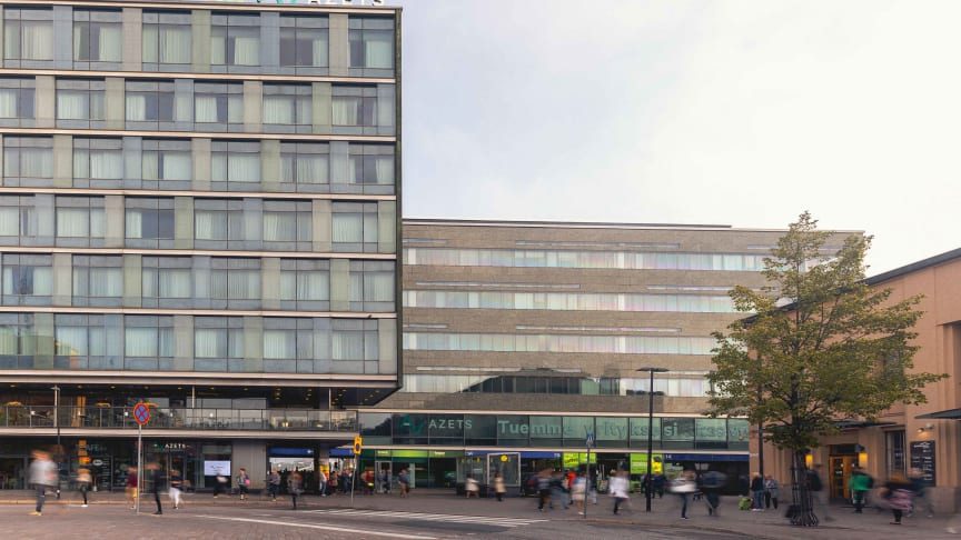 Azets-talo sijaitsee Helsingissä Elielinaukiolla