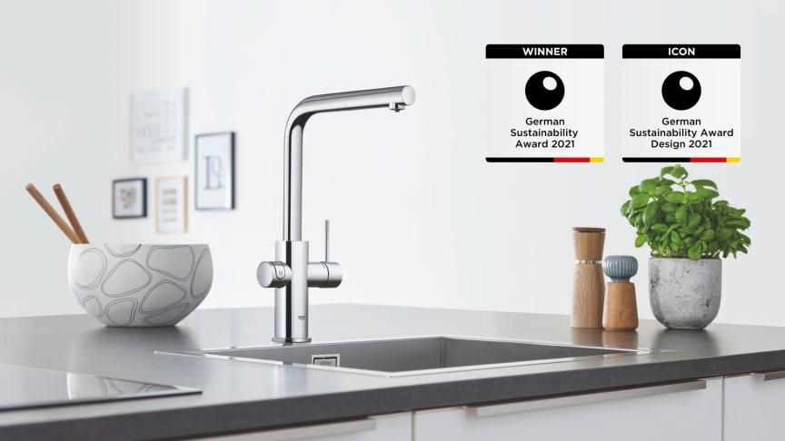 Vannsystemet GROHE Blue har vunnet den tyske bærekraftsprisen 2021 for design.