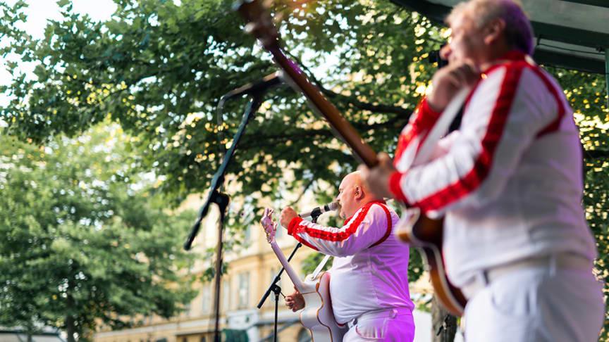 Larz Kristerz har spelat på Musik på Larmtorget vid flera tillfällen. Foto: Adam Humlesol