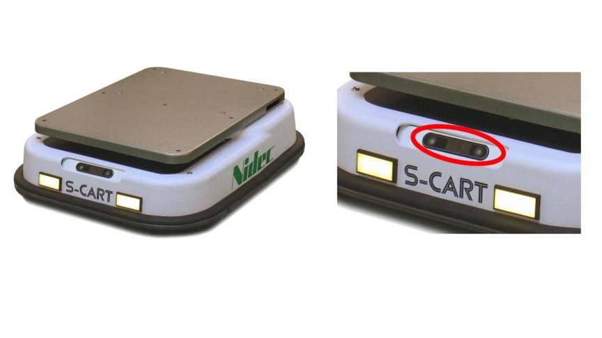 Left: S-CART-V, Right: Sensors for the Vision-based Navigation System