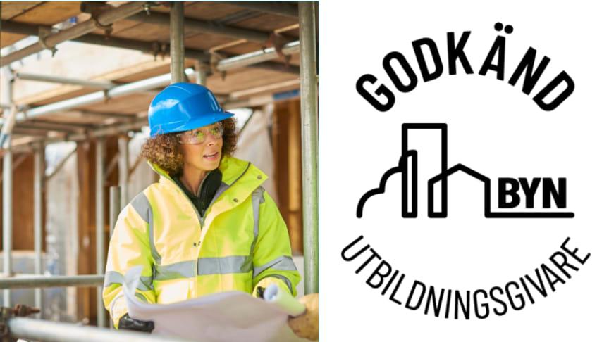 Astars byggutbildingar i Luleå, Skellefteå och Umeå är utsedda till godkända utbildningsgivare av BYN.