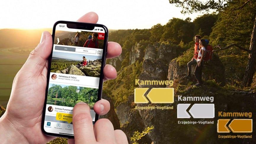 mit der App SummitLynx auf dem Kammweg Erzgebirge-Vogtland unterwegs (Foto: TVE)