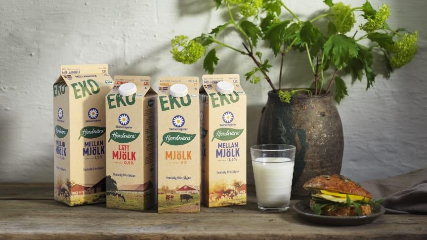 """De nya bruna kartongförpackningar från Elopak kommer att bära symbolen """"certifierad carbon neutral"""" vilket garanterar att förpackningen är koldioxidneutral."""