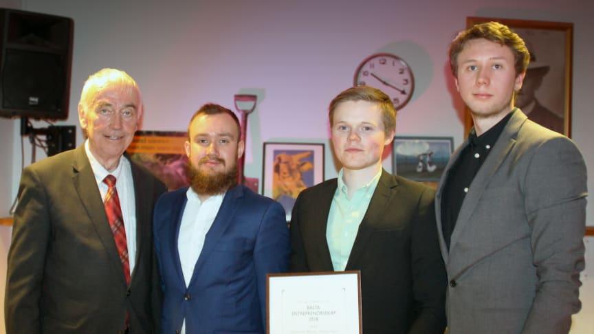 Fr. v: Bert-Inge Hogsved, Johannes Altnäs, Gustaf Sjösten och Simon Fors. Eric Lindgren saknas på bild.