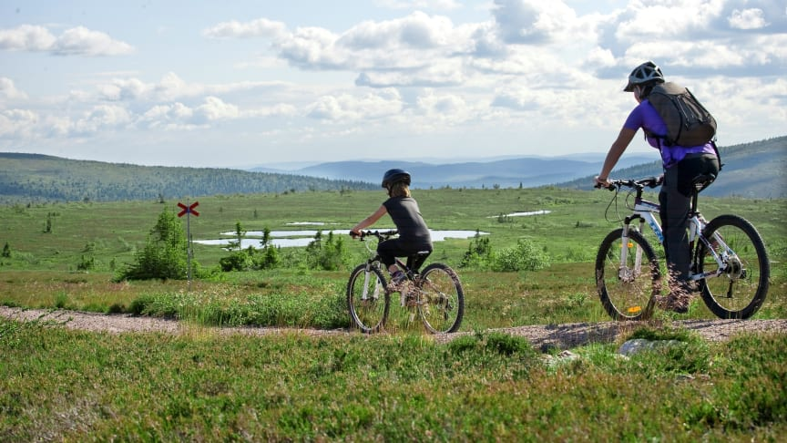 Cykling Sälen sommar