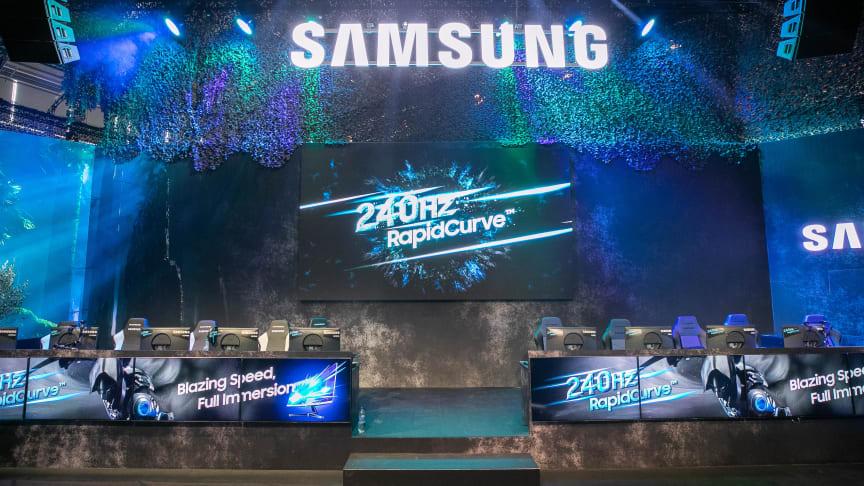 Samsung esitteli Gamescomissa kaarevan 240 Hz -pelinäyttönsä