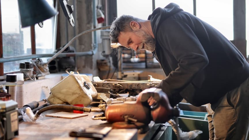 Andelen ansökta lån från byggbranschen sjunker. Bild: Pexels.com.