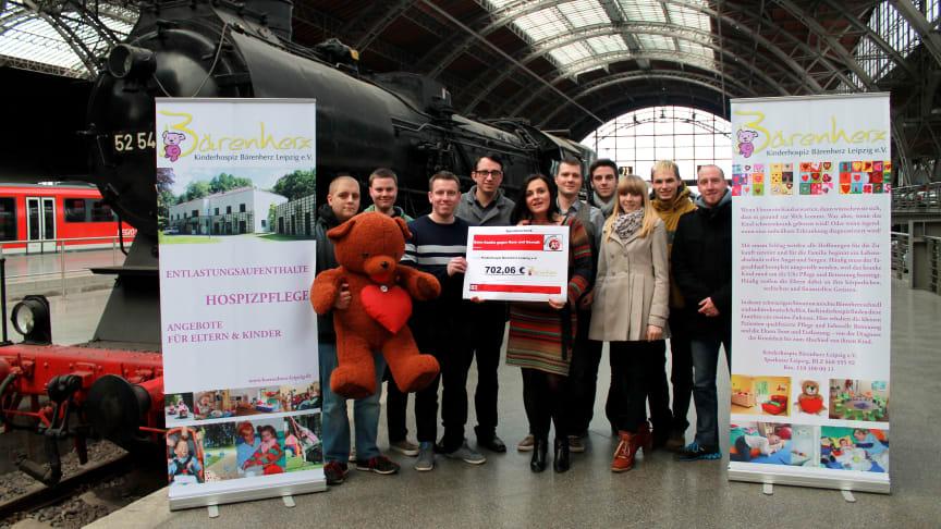 Auszubildende der Deutschen Bahn setzen sich für Bärenherz ein