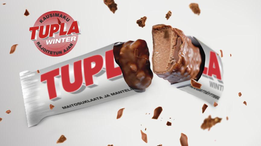 Tupla Winter -suklaapatukassa tuttu Tupla-maku yhdistyy mausteiseen kaardemummaan.