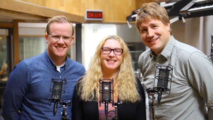 Skatteskolans panel består av Skatteverkets experter Jenny Persson och Per Granqvist under ledning av Anders Nyberg från Tillväxtverket. Foto: Pontus Holgersson, Skatteverket