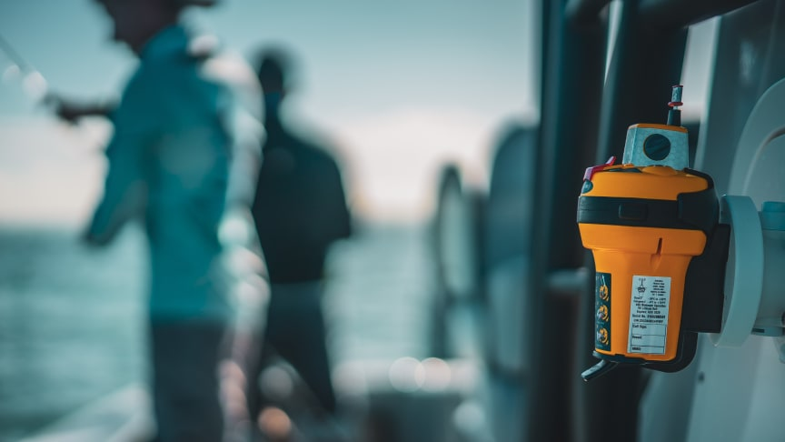 EPIRBs, such as the Ocean Signal rescueME EPIRB1, are installed on the boat to alert search and rescue in an emergency