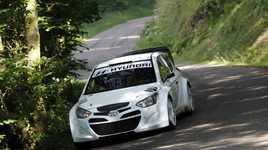 Intens trening med i20 WRC-bilen