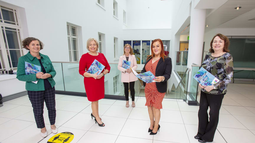 MEABC Chief Executive, Anne Donaghy with guests at today's launch of a new Local Government Mental Health and Wellbeing Strategy & Action Plan for improving mental health among local council and NIHE employees today