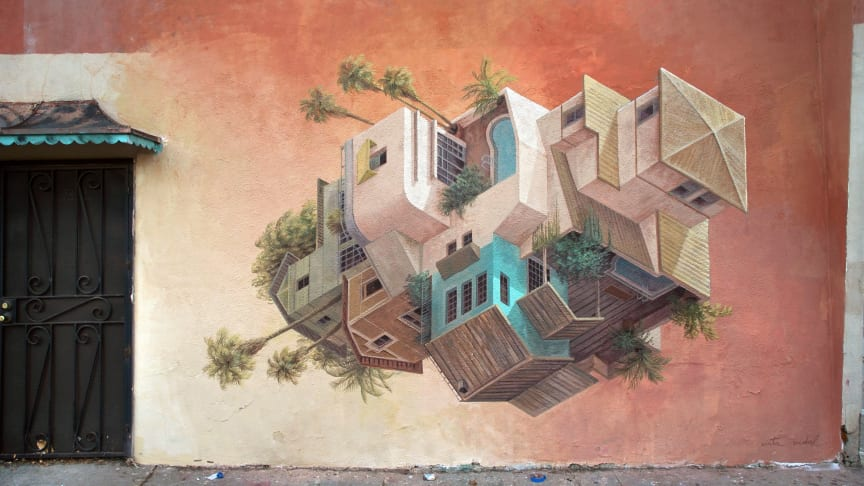 The illusionistic art by Cinta Vidal to No Limit Street Art