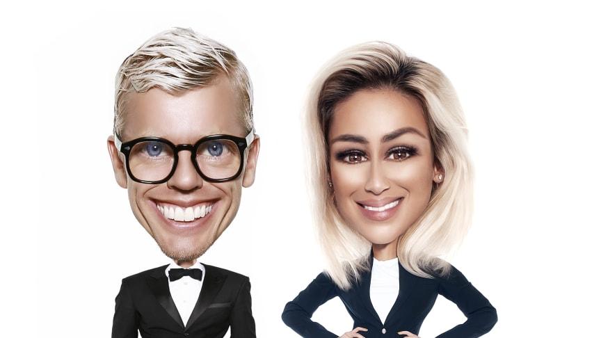 Bingo Rimér och Katrin Zytomierska som står bakom Relationspodden 2.0
